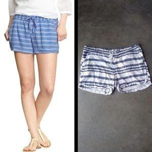 Old Navy Striped Linen Blend Drawstring Shorts lg